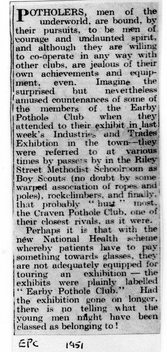 Earby Festival Industries and Trades Exhibition 1951