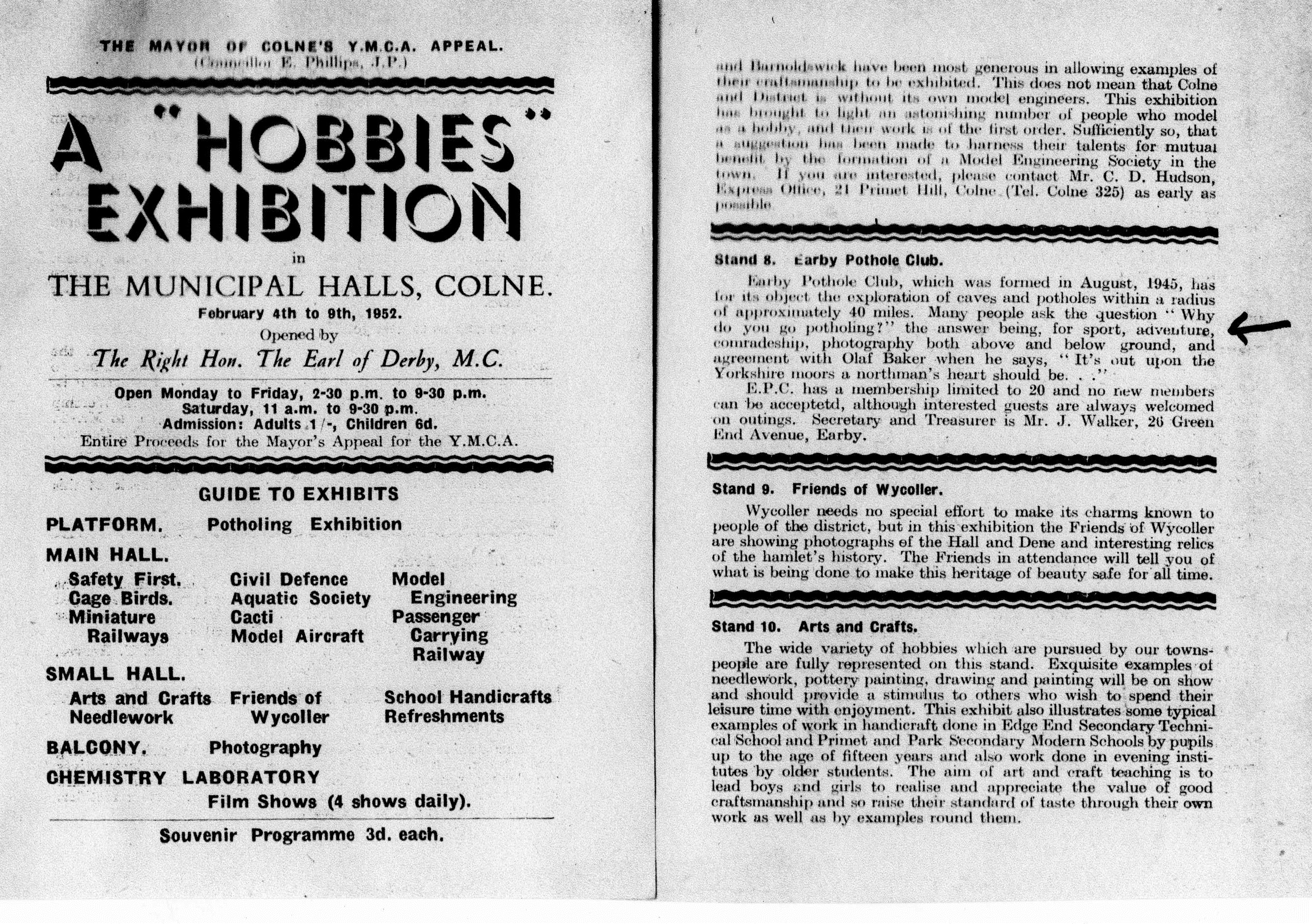 EPC Hobbies Exhibition Catalogue 1952