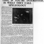 This, if you're interested, is what they call Speleology - The Times 17 June 1955