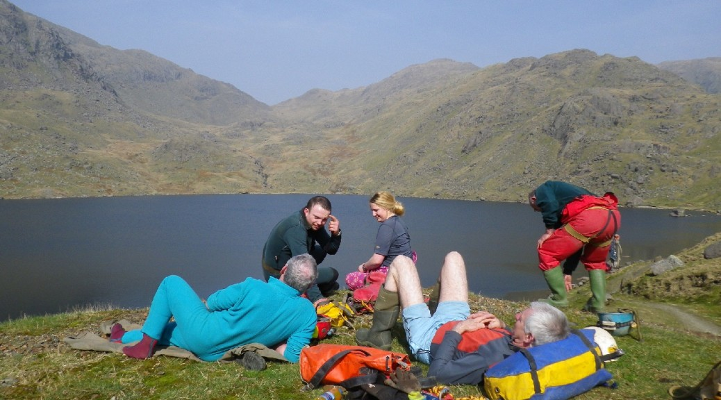 Relaxing before the through trip - Coniston 2012