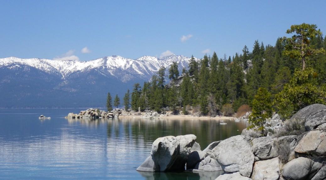 Walking at Lake Tahoe, Nevada, April 2012