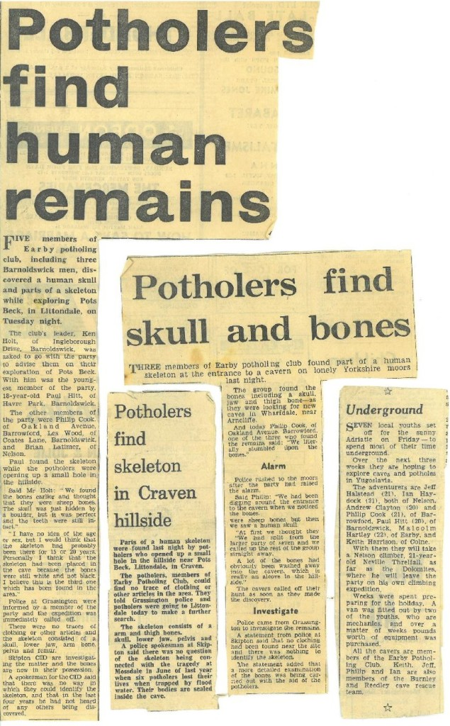 Potholers find human remains