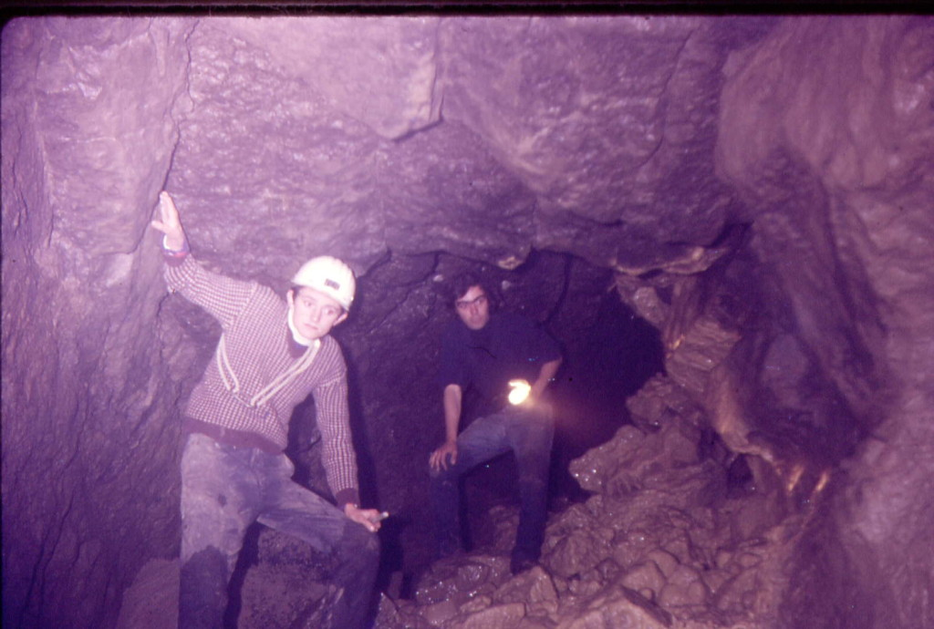 Roy Dawson & Baz Hunt in Dove Cave Kettelwell 1970 No17